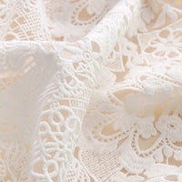125cm Width x 95cm Length Vintage Floral and Geometry Pattern EmbroideryTulle Lace Fabric