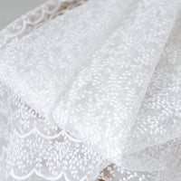 135cm Width Organza Leaf Branch  Embroidery Lace Fabric by the Yard