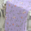 145cm Width Purple Floral Pattern Print Cotton Fabric by the Yard