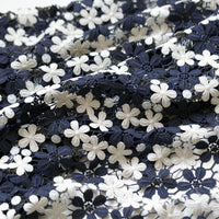 130cm Width x 95cm Length Vintage Hollow-out Contrast Color Floral Lace Fabric