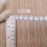 14 Yards x 1.2cm Width Retro  Floral Water Soluble Lace Ribbon