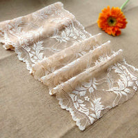 22cm Width x 180cm Length Feather Embroidery Lace Fabric