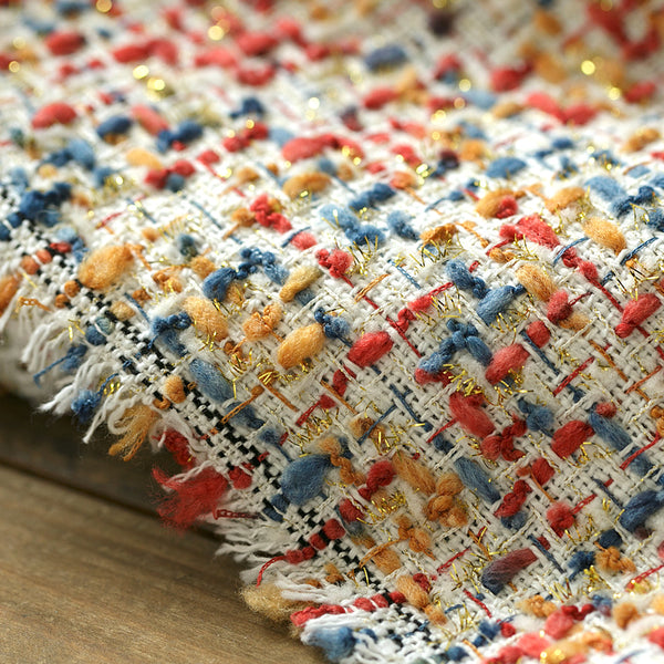 150cm Width x 95cm Length Premium Autumn and Winter Mixed Color Woolen Fabric Color Weaving Fabric