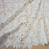 125cm Width x 95cm Length Botanical Branches Guipure Embroidery Lace Fabric