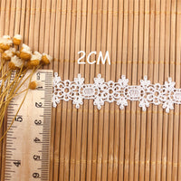 4.5 Yards x 2.2cm Width Retro Floral Water Soluble Embroidery  Lace Ribbon