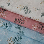 140cm Width x 90cm Length Vintage  Floral Branch Jacquard and Print Cotton Fabric