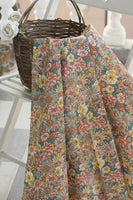 145cm Width Vintage Blooming Floral Print Cotton Fabric by the Yard