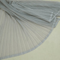 59 inches Width Pleated Crepe Gauze Lace Fabric by The Yard