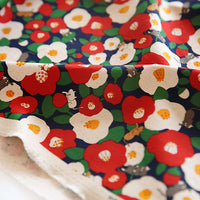110cm Width Hit Color Kitty Floral Print Fabric by the Yard