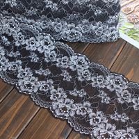 13cm Width x 180cm Length Floral Embroidery Lace Embellishment Fabric Trim