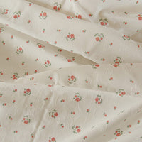 150cm Width Rose Floral Print with 3D Leaf Cotton Fabric by the Yard