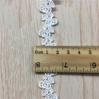 4.5 yards x 1.8cm Width Premium Rose Water Soluble Lace Ribbon