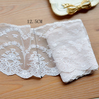 4 Yards of 12.5cm Width Premium Vintage Polyester Floral Lace Fabric Trim