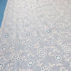 130cm Width Vintage Floral Embroidery  Eyelet Cotton Lace Fabric by the Yard