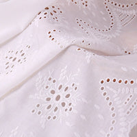 53 inches Width Symmetrical Cut Out Floral Embroidery Eyelet Fabric by The Yard