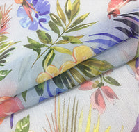 135cm Width Romantic flowers and birds print fabric by the Yard