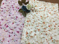 130cm Width  Chiffon Floral Embroidery Eyelet Fabric by the Yard