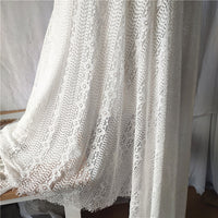 150cm Width x 300cm Length Premium Eyelash Hollow-out Strip Floral Embroidery Lace Fabric Panel