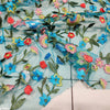 130cm Width x 95cm Length Colorful Floral Embroidery Lace Fabric