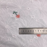 145cm Width  Little Embroidery Flower on Hollow out Eyelet Daisy Fabric by the Yard