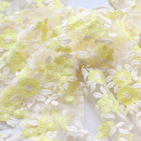120cm Width Floral Embroidery Lace Fabric by the Yard