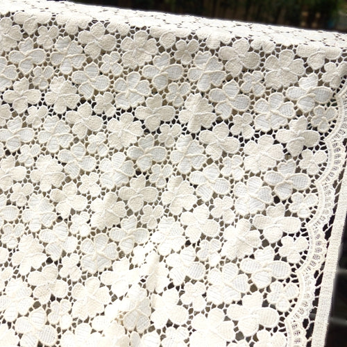 130cm Width x 95cm Length  Floral Embroidery Lace Fabric