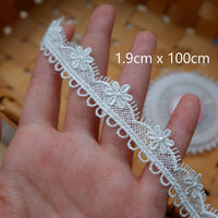 100cm x 9 Design Floral Embroidery Lace Ribbon