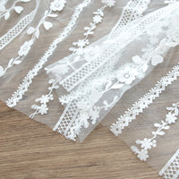 130cm Width x 100cm Length 3D Floral Embroidery Lace Fabric