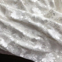 98cm Width  Silk Georgette Floral  Embroidery Lace Fabric by the Yard