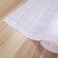 135cm Width Floral Pattern Embroidery Eyelet Cotton Fabric by the Yard