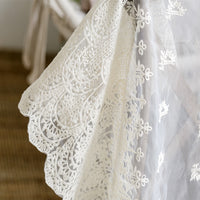 53 inches Vintage Organza Embroidery Lace Fabric by The Yard