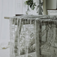 135cm Width x 90cm Length Vertical Strip  Chiffon Floral Embroidery Lace Fabric