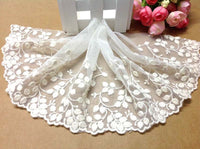 3 Yards of 15cm Width Vintage Leaf Embroidery Lace Fabric Trim