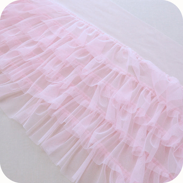 35cm Width Ruffled Tiered Lace Tulle by the Yard