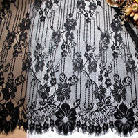 1.5m x 3m Eyelash Floral Embroidery Lace Fabric Panel
