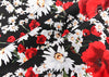 "55"" Width Daisy and Rose Flower Print Fabric by The Yard"