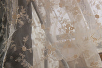 "47"" Width Premium Floral Branches Embroidery Lace Fabric by The Yard"