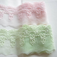 5 Yards of 6.3cm Width Floral Embroidery Lace Trim Embellishment