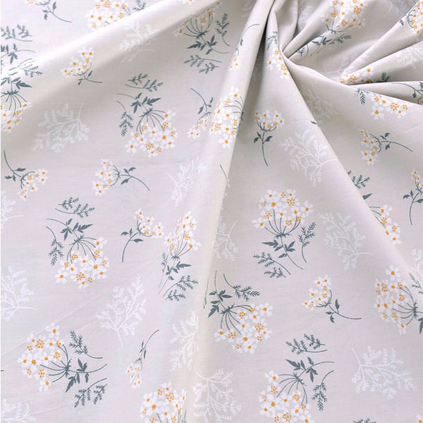 "94"" Width Little Botanical Flowers Print Cotton Fabric by The Yard"
