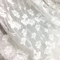 120cm Width x 95cm Length Abstract Dandelion Floral Embroidery Lace Fabric