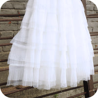 70cm Width Pleated Tiered Skirt Lace Fabric by The Yard