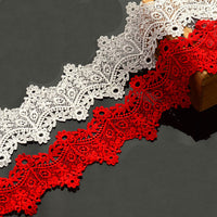 6.8cm Width x 300cm Length Vintage Chemical Water Soluble Lace Embroidery Trim