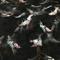 140cm Width x 95cm Length Premium Lively Flying Birds Embroidery Lace Fabric