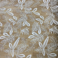 "59"" Width Sequins Botanical Branches Embroidery Lace Fabric by the Yard"