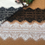 3 Yards of 14cm Width Premium Symmetrical Eyelash Lace Fabric Trim