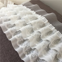 2 Yards of 11cm Width Ruffle 3-Tiered Lace Trim