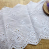 3 Yards of 20cm Width Vintage Cotton Fabric Fringe Eyelet Trim