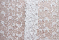 "59"" Width Full Width Ivory Phoenix Floral Embroidery Wedding Lace Fabric by the Yard"