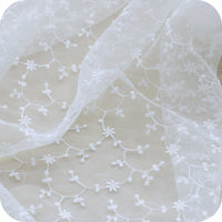 "51"" Width Exquisite Floral Embroidery Lace Fabric by The Yard"