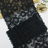 3 Yards of 21cm Width Black Floral Embroidery Lace Fabric Trim